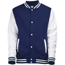 Abbigliamento Unisex bambino Giubbotti Awdis JH43J Blu navy/Bianco