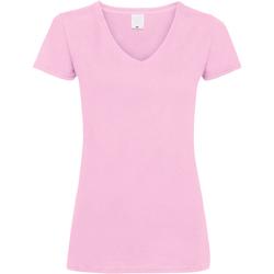 Abbigliamento Donna T-shirt maniche corte Universal Textiles Value Rosa pastello