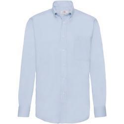 Abbigliamento Uomo Camicie maniche lunghe Fruit Of The Loom 65114 Azzurro