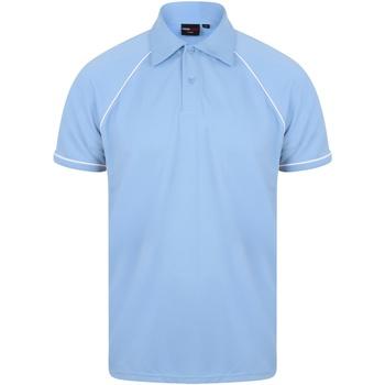 Abbigliamento Uomo Polo maniche corte Finden & Hales Piped Cielo/Blu navy/Bianco