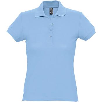 Abbigliamento Donna Polo maniche corte Sols 11338 Azzurro cielo