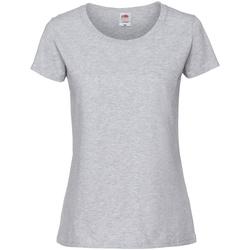 Abbigliamento Donna T-shirt maniche corte Fruit Of The Loom 61424 Grigio cenere