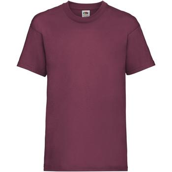 Abbigliamento Unisex bambino T-shirt maniche corte Fruit Of The Loom 61033 Bordeaux
