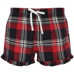Abbigliamento Donna Shorts / Bermuda Skinni Fit SK082 Rosso/Blu Navy Quadretti