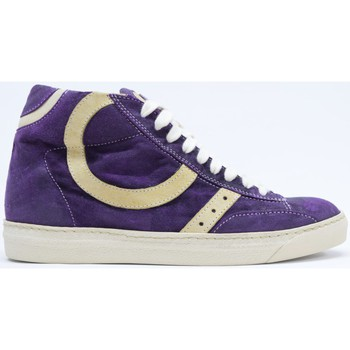 Scarpe Donna Sneakers basse Play Hat CALZATURE SNEAKERS ALTA DONNA CAMOSCIO VIOLA N.37 MADE ITALY Viola