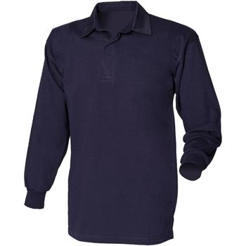 Abbigliamento Uomo Polo maniche lunghe Front Row FR100 Blu navy