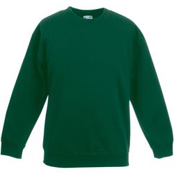 Abbigliamento Unisex bambino Felpe Fruit Of The Loom SS801 Verde bottiglia