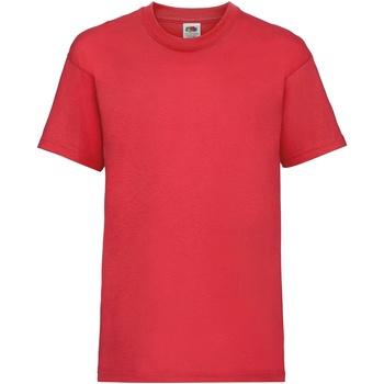Abbigliamento Unisex bambino T-shirt maniche corte Fruit Of The Loom 61033 Rosso