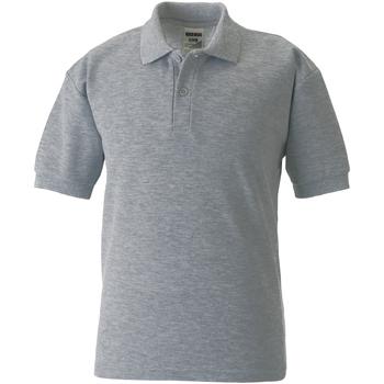 Abbigliamento Unisex bambino Polo maniche corte Jerzees Schoolgear 539B Grigio chiaro