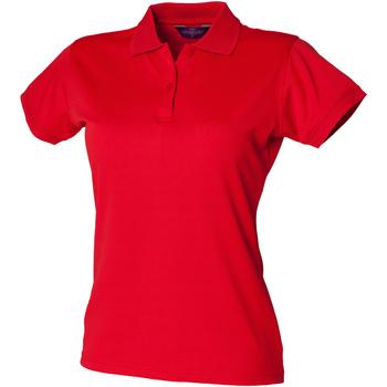 Abbigliamento Donna Polo maniche corte Henbury Coolplus Rosso Classico