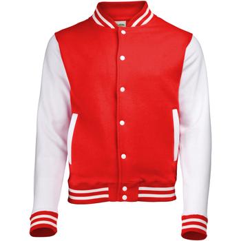 Abbigliamento Giubbotti Awdis JH043 Rosso fuoco/Bianco