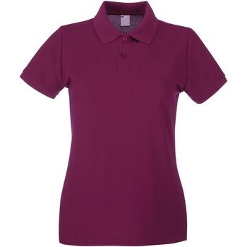 Abbigliamento Donna Polo maniche corte Universal Textiles 63030 Sangue