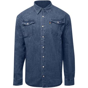 Abbigliamento Uomo Camicie maniche lunghe Duke  Blu