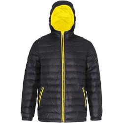 Abbigliamento Uomo Piumini 2786 TS016 Nero/Giallo Brillante