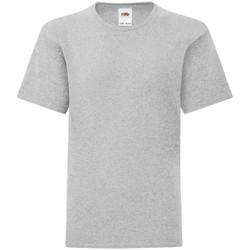 Abbigliamento Bambino T-shirt maniche corte Fruit Of The Loom 61023 Grigio screziato