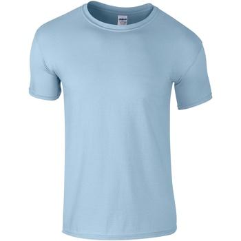 Abbigliamento Uomo T-shirt maniche corte Gildan Soft-Style Azzurro