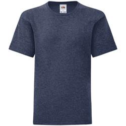 Abbigliamento Unisex bambino T-shirt maniche corte Fruit Of The Loom 61023 Blu scuro screziato