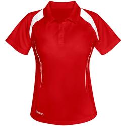 Abbigliamento Donna Polo maniche corte Spiro S177F Rosso/Bianco