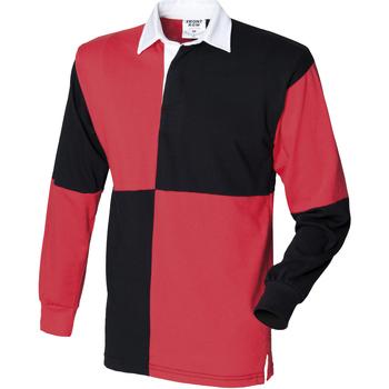 Abbigliamento Uomo Polo maniche lunghe Front Row FR02M Nero/Rosso