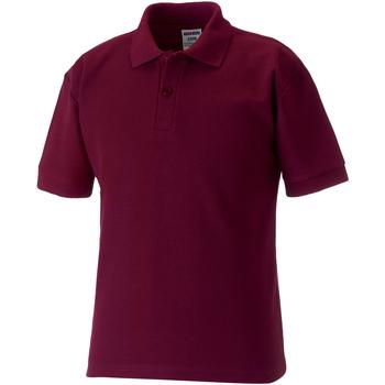 Abbigliamento Unisex bambino Polo maniche corte Jerzees Schoolgear 65/35 Bordeaux