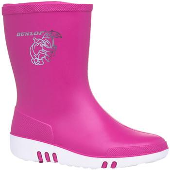 Scarpe Unisex bambino Stivali da pioggia Dunlop  Rosa
