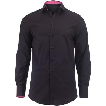Abbigliamento Uomo Camicie maniche lunghe Alexandra Hospitality Nero/Rosa