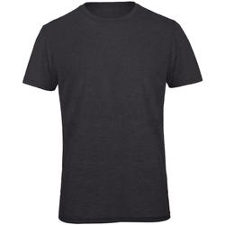Abbigliamento Uomo T-shirt maniche corte B And C TM055 Grigio scuro screziato