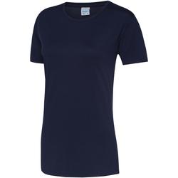 Abbigliamento Donna T-shirt maniche corte Awdis JC005 Blu Oxford