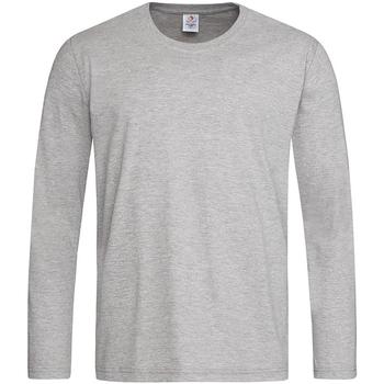 Abbigliamento Uomo T-shirts a maniche lunghe Stedman  Grigio screziato