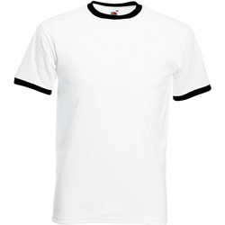 Abbigliamento Uomo T-shirt maniche corte Fruit Of The Loom 61168 Bianco/Nero