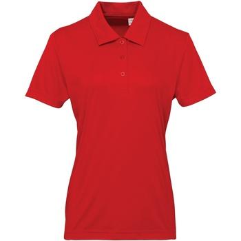 Abbigliamento Donna Polo maniche corte Tridri TR022 Rosso Fuoco