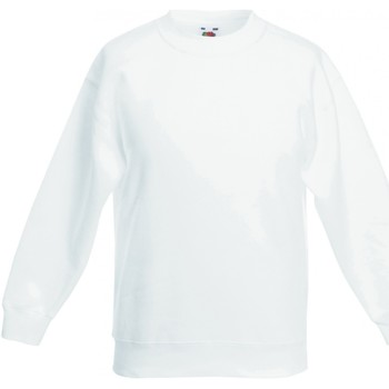 Abbigliamento Unisex bambino Felpe Fruit Of The Loom SS801 Bianco