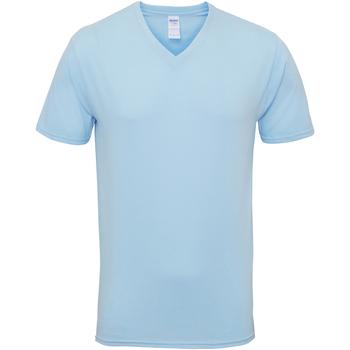 Abbigliamento Uomo T-shirt maniche corte Gildan 41V00 Azzurro