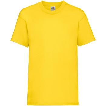 Abbigliamento Unisex bambino T-shirt maniche corte Fruit Of The Loom 61033 Giallo