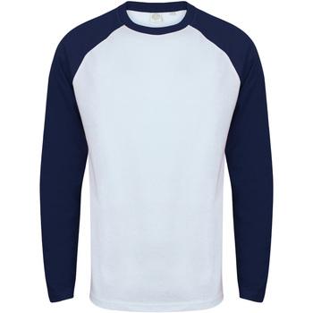 Abbigliamento Uomo T-shirts a maniche lunghe Skinni Fit SF271 Bianco/Navy