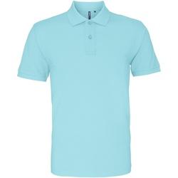 Abbigliamento Uomo Polo maniche corte Asquith & Fox AQ010 Azzurro oceano