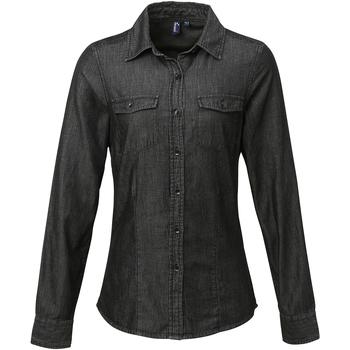 Abbigliamento Donna Camicie Premier Stitch Nero