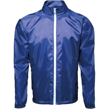 Abbigliamento Uomo giacca a vento 2786  Blu reale/Bianco
