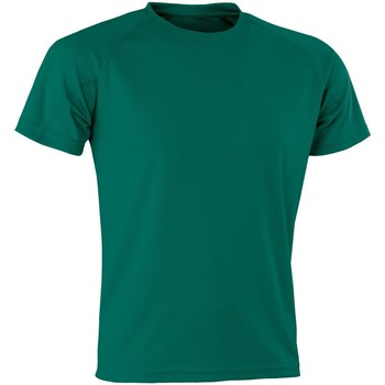 Abbigliamento T-shirt maniche corte Spiro Aircool Verde bottiglia