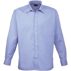 Abbigliamento Uomo Camicie maniche lunghe Premier PR200 Azzurro medio