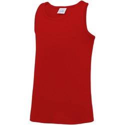 Abbigliamento Unisex bambino Top / T-shirt senza maniche Awdis JC07J Rosso Fuoco