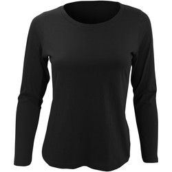 Abbigliamento Donna T-shirts a maniche lunghe Sols Majestic Nero intenso