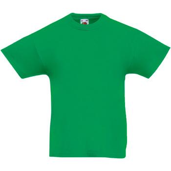 Abbigliamento Unisex bambino T-shirt maniche corte Fruit Of The Loom 61019 Verde kelly