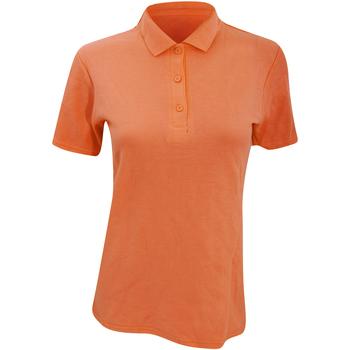 Abbigliamento Donna Polo maniche corte Anvil 6280L Mandarino