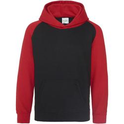 Abbigliamento Unisex bambino Felpe Awdis JH09J Nero/Rosso