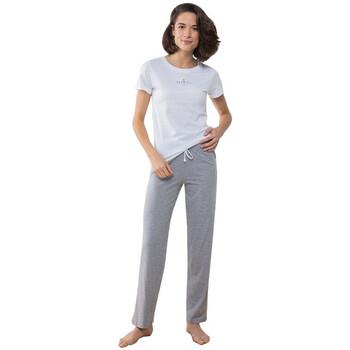 Abbigliamento Donna Pigiami / camicie da notte Towel City TC053 Bianco/Grigio