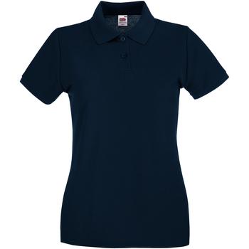 Abbigliamento Donna Polo maniche corte Fruit Of The Loom 63030 Blu scuro