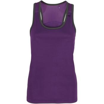 Abbigliamento Donna Top / T-shirt senza maniche Tridri TR023 Viola/Carbone