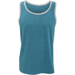 Abbigliamento Uomo Top / T-shirt senza maniche Anvil 986 Blu/Erica grigia