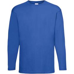 Abbigliamento Uomo T-shirts a maniche lunghe Universal Textiles 61038 Blu cobalto